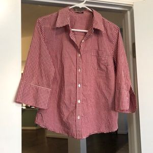 J. Crew plaid half sleeve button down gingham